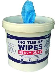 Heavy Duty Textured Wipes for Hands and Surfaces (150 Wipes)