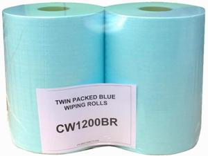 CERTEK PLUS Industrial Wiping Rolls - Twin Packed 2 x 400 Sheets