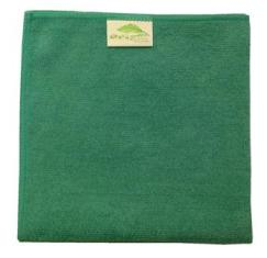 Dry and Polish Green Microfibre Cloths Pack of 10 cloths 40x40cm