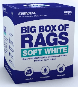 WHITE - Super soft NEW 100% cotton rags for cleaning and wiping