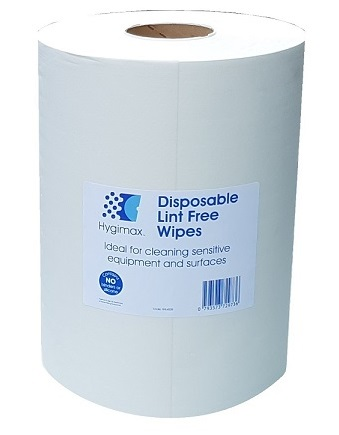 HYGIMAX� Premium Lint Free Wiping Roll 400 Sheets 30x38cm White