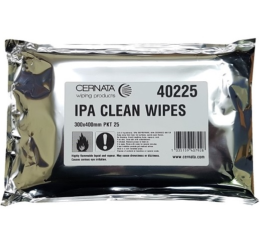 IPA Super Clean Wipes Poly Cellulose 30x40cms Pack of 25