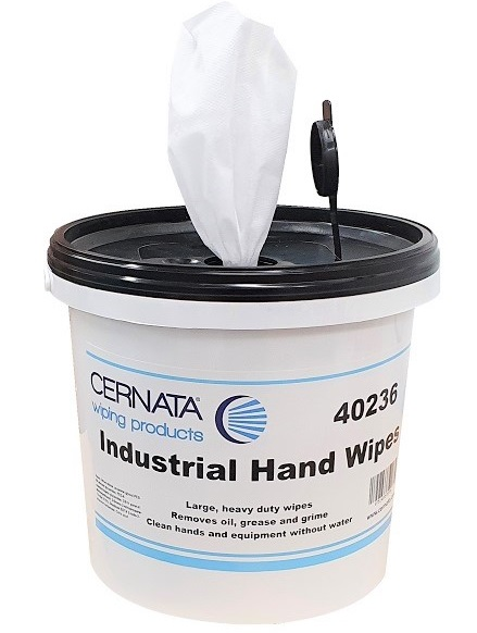 Heavy Duty Non-Abrasive Hand Wipes 150 SHT TUB 28x28cms