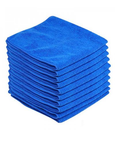 Pack of 10 Trade Quality 350gsm Microfibre Cloths 42x42cms