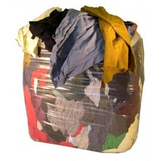Coloured Mixed Rag for General Purpose Cleaning 10kg Bag
