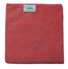 Dry and Polish Red Microfibre Cloths Pack of 10 cloths 40x40cms