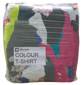 Coloured T-Shirt Rags Soft and Absorbent 10kg Pack