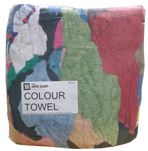 Coloured Towelling Rag - Mixed Colours Poly Pack 10kg