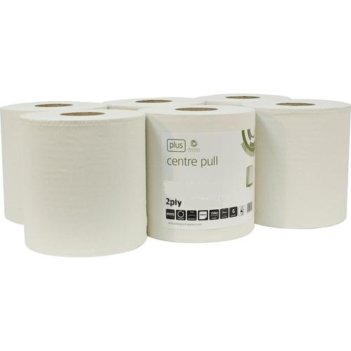 Cernata Centre-Feed White Rolls 2ply 150m 6 Pack - 400 Sheets