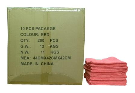 Maxigleam� Red/Pink Microfibre Cloths Case of 200 Cloths 40x40cm
