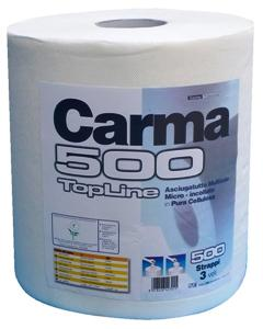 Carma� Professional Topline 500 Wipers Roll White (Lint Free)