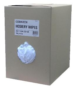 New White Hosiery Wipes 10kg Box ( approx 225 wipes)