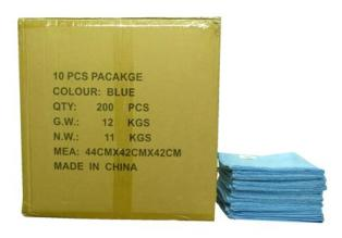 MAXIGLEAM Blue Microfibre Cloths Case of 200 Cloths 40x40cms