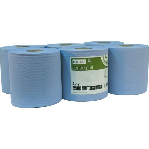Cernata Centrefeed Blue Rolls 2ply 150m 6 Pack - 400 Sheets