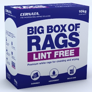 Lint Free Rag - Cernata Supplied in a Carry Handle Carton 10kg