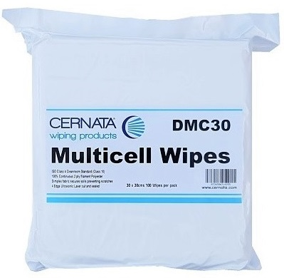 2 Ply Quilted Lint Free Polyester Wipes 30x30cms Pack of 100