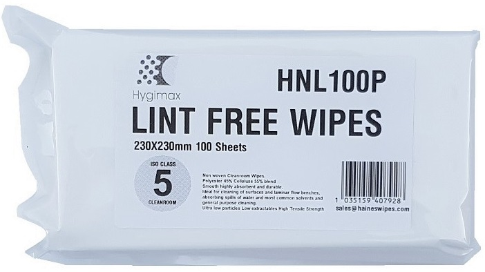 HYGIMAX Lint Free Cleaning Cloths Pack of 100