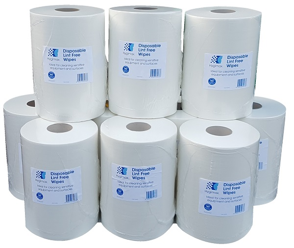 Bundle Offer 10 Rolls Hygimax Lint Free Wiping Rolls