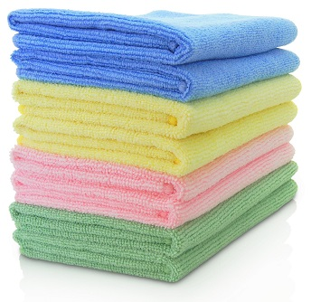 MAXIGLEAM Microfibre Cloths 40x40cms Mixed Colours