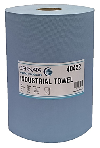 Cernata XXL 3Ply Blue Roll 1000 Sheets Pack of 2 Rolls