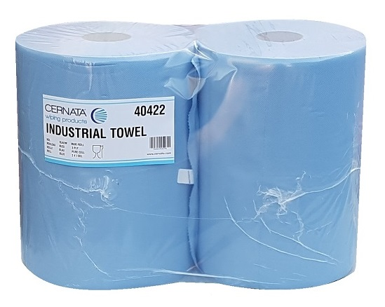 Cernata Classic XXL 3Ply Blue Wiping Rolls 1000 Sheets Pack of 2