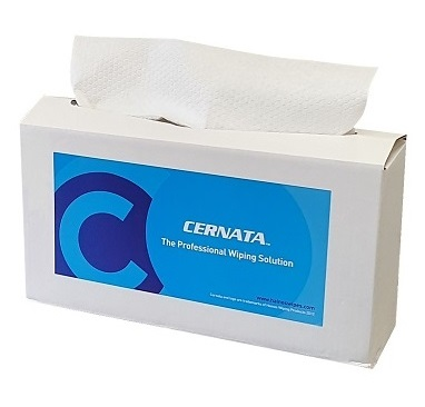 White Heavy Duty Lint Free Cloths 42x36cms Box of 160
