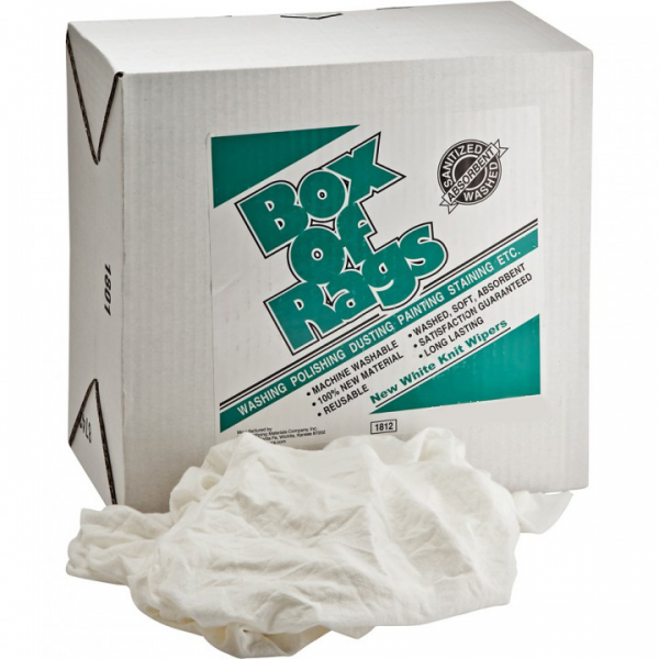 New White Cotton Cleaning Rags 10kg