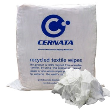 White Cleaning Rag 100% Cotton Poly Pack 10kg