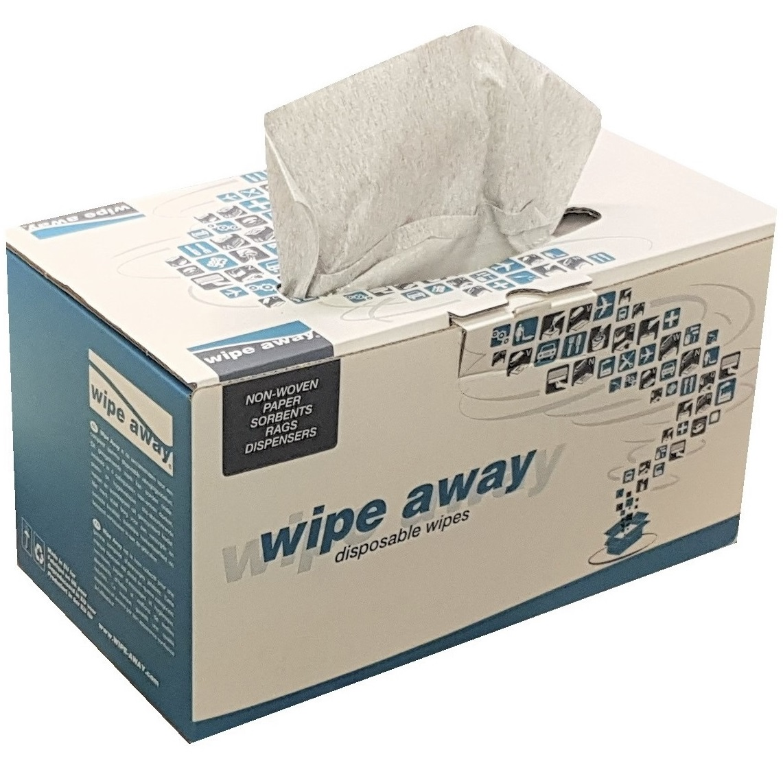 Heavy Duty Lint Free Wipes Grey 320 Wipes/Case 42x36cm