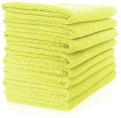 MAXIGLEAM� Yellow Dusters in Microfibre 40cm x 40cm (Pack of 10)