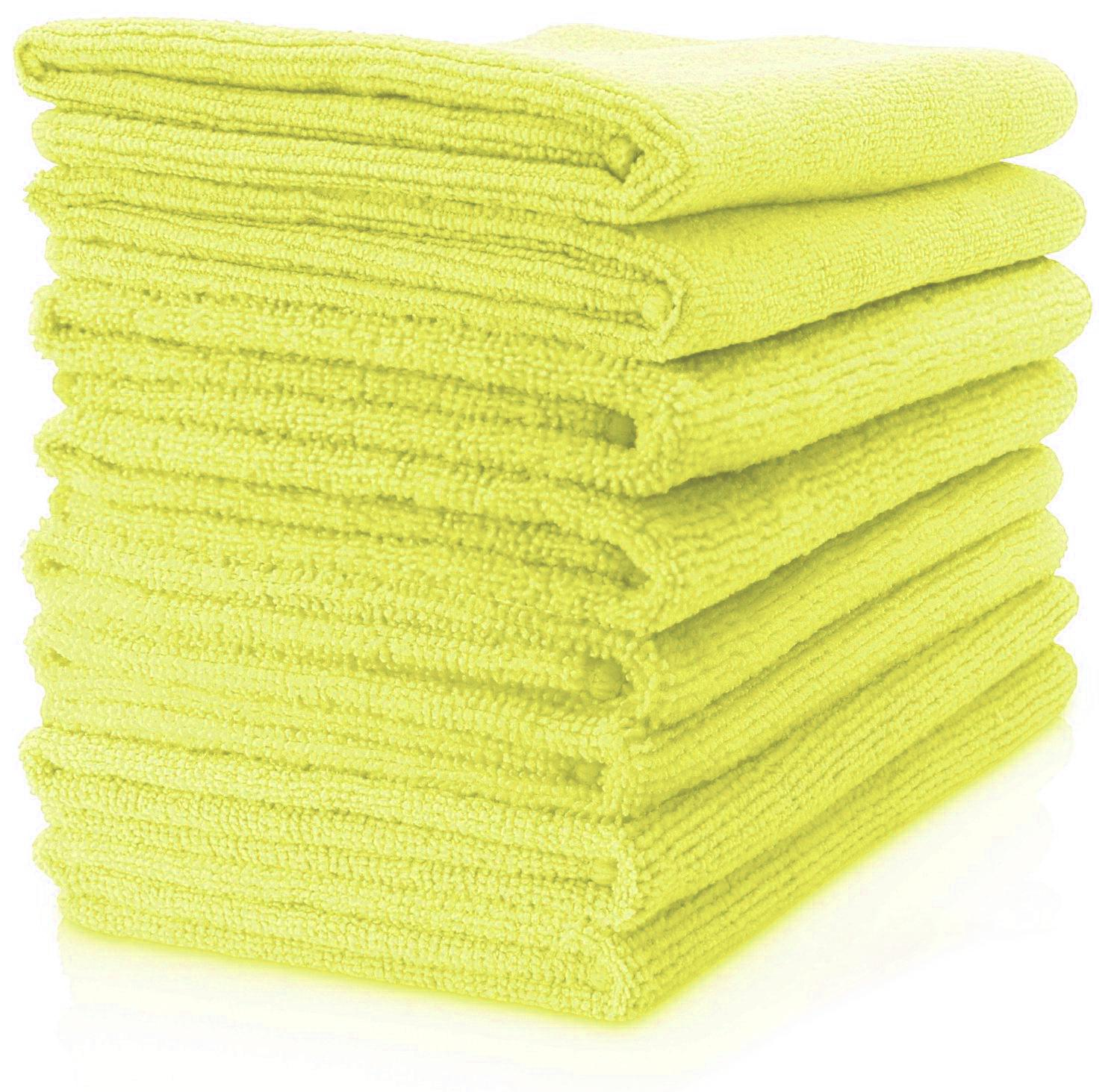 MAXIGLEAM Yellow Microfibre Cloths Pack of 50 Cloths 40x40cms
